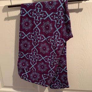 Blue and Purple Geometric LuLaRoe Leggings